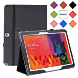 WAWO Samsung Galaxy Note & Tab Pro 12.2 Inch Tablet Smart Cover Folio Case, Black