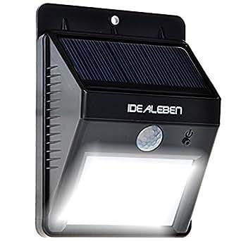 idealeben 8 led kabellose au enleuchte au enwandleuchte solarleuchte wand solarlampe mit. Black Bedroom Furniture Sets. Home Design Ideas