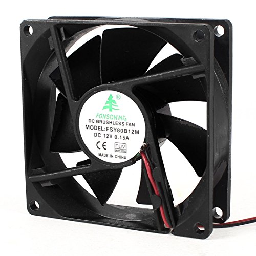 80 x 25mm 12V DC Ball Bearing PC Case CPU Cooler Cooling Fan (Computer Fan Box compare prices)