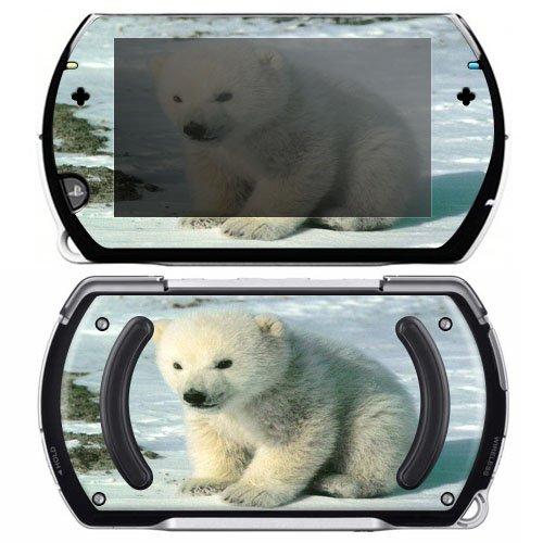 Baby Polar Bear Cub Decorative Protector Skin Decal Sticker for Sony Playstation PSP Go System