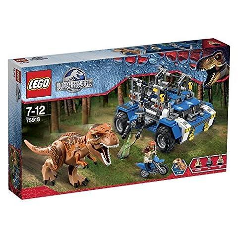 LEGO Jurassic World 75918: T-Rex Tracker by LEGO - Jaw Snapping T-rex Dinosaur Toy