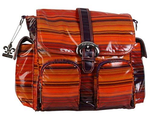 Kalencom Matte Coated Double Duty Diaper Bag, Sunset