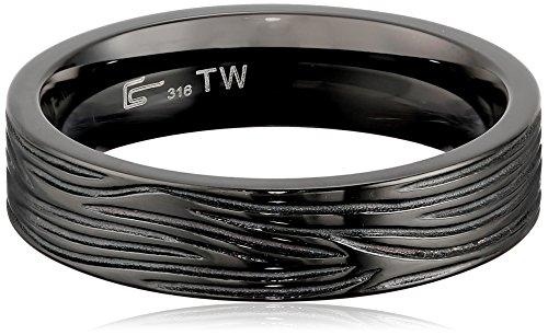 Men's Black Stainless Steel Ring, Size 11 (Men Stainless Steel Ring Size 11 compare prices)