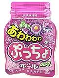 味覚糖 あわわわわぷっちょボール(ボトル型小袋)グレープ 29g×10袋