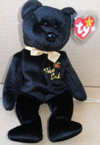 TY Beanie Babies The End Bear Plush Toy Stuffed Animal - 1