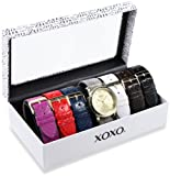XOXO Womens XO9027 Seven Color Snake Interchangeable Strap Set Watch