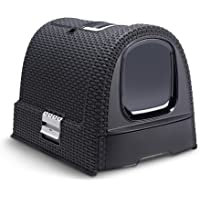 Curver Pet Life Style- Hooded Litter Box- scoop + filter- Dark-Grey