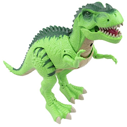 Sun Cling® Electronic Toys Green Walking T-rex Dinosaur (Dinosaur Robots compare prices)