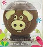 Belfine Chocolate Farm Animals in Acetate Pack (Assortment of Sheep, Pig and Cow) 50 g (Pack of 3)