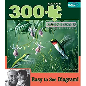 Buffalo Games Hautman 300 - Hummingbirds and Fuschia