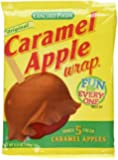 Concord Caramel Apple Wrap 6.05 oz Package (Value 3 Pack - Makes 15 Fresh Caramel Apples)
