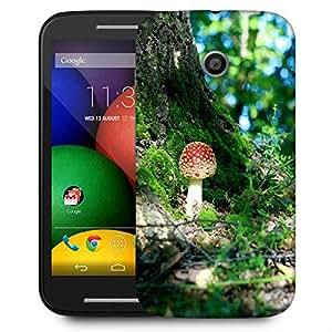 Snoogg Colorful Mushroom Designer Protective Phone Back Case Cover For Motorola E / Moto E