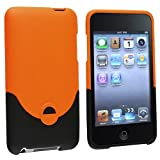 eForCity Rubber Hard Case for iPod touch 2G/3G, Orange/Black
