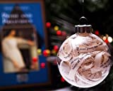 Pride and Prejudice by Jane Austen Christmas Ornament - Glass Ball Filled with Vintage Book Strips
