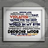 `Cadence` Art Print - DEPECHE MODE - Violator - Signed & Numbered Limited Edition Typography Wall Art Print - Song Lyrics Mini Poster
