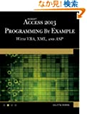 Microsoft Access 2013 Programming by Example with VBA, XML, and ASP (Computer Science)