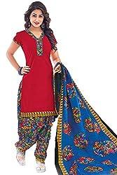 Gugaliya Women's Unstiched Superior Cotton SALWAR,KAMEEZ & DUPATTA Suit ( P509)