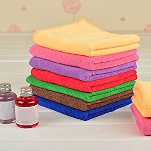 6pcs 25x25cm Microfiber Car Wash Towel Cloth Multi-function Car Polish Cleaning Towel