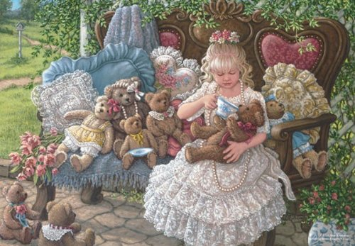 Holly Bears Jigsaw Puzzle, 260-Piece