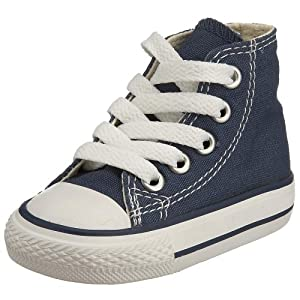 Converse Unisex-Baby Chuck Taylor Classic Hi Navy Sneaker - 7