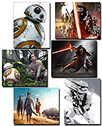 NEW Product!! Star Wars Episode VII The Force Awakens (8x10) Rare Collection of Prints - BB8, Rey, Finn, Kylo Ren, Han Solo