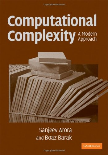Complexity Theory: A Modern Approach