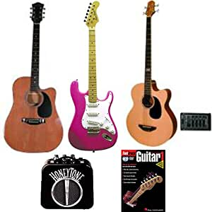 acoustic electric guitars bass beginner pack dreadnought acoustic guitar in. Black Bedroom Furniture Sets. Home Design Ideas