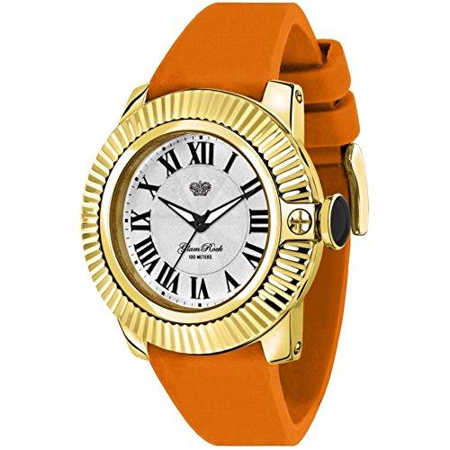 glam-rock-womens-sobe-44mm-orange-silicone-band-gold-plated-case-swiss-quartz-analog-watch-gr32060s