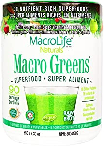 MacroLife Naturals, Macro Greens, Nutrient Rich Super Food Supplement, 90 Servings, 30 oz (850 g)