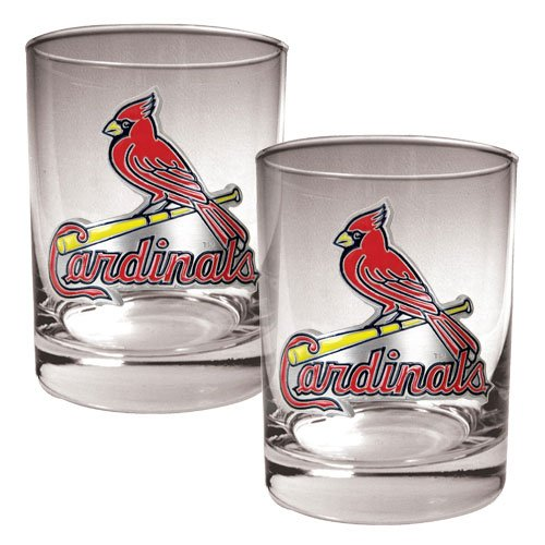 MLB St. Louis Cardinals Two Piece Rocks Glass Set - Primary Logo at Amazon.com
