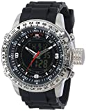 U.S. Polo Assn. Sport Mens US9047 Analog-Digital Black Dial Black Rubber Strap Watch
