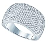 1.0ctw Diamond Micro-Pave Band 10K White Gold
