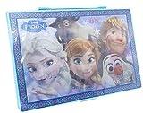 ケースも中身もアナ雪だらけ アナと雪の女王 68P 3Dケース アートセット (ブルー)