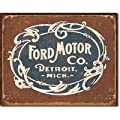 Ford Motor Co Historic Logo Distressed Retro Vintage Tin Sign - 32x41 cm