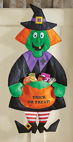 Halloween Witch Door Hanging Candy Holder Decoration