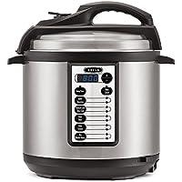 Bella BLA14467 6-Quart Multi-Function Electric Pressure Cooker (Black/Silver)
