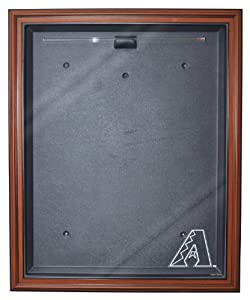 MLB Arizona Diamondbacks Cabinet Style Jersey Display, Brown by Caseworks