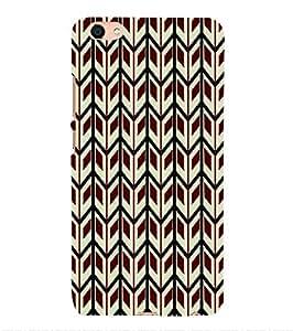 PrintVisa Corporate Print & Pattern Chevron 3D Hard Polycarbonate Designer Back Case Cover for VIVO X7L
