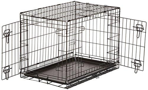 amazonbasics-gabbia-per-cani-in-metallo-pieghevole-con-2-sportelli-76-cm