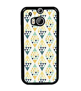 PrintDhaba Pattern D-5219 Back Case Cover for HTC ONE M8s (Multi-Coloured)