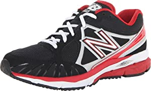 New Balance - Mens 1000 Cushioning Baseball Shoes, UK: 8.5 UK - Width D, Black with Red