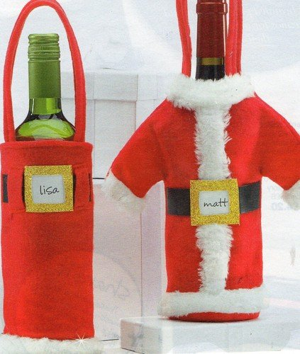 christmas tableware santa outfit bottle wine holders
