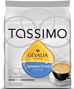 Gevalia Kaffe Signature Crema Coffee T-Discs by Tassimo