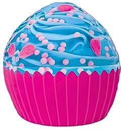 iscream Sweet Treats Jumbo Blue Icing Cupcake Microbead Pillow