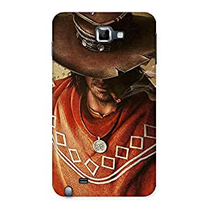 Gorgeous Cowboy Multicolor Back Case Cover for Galaxy Note