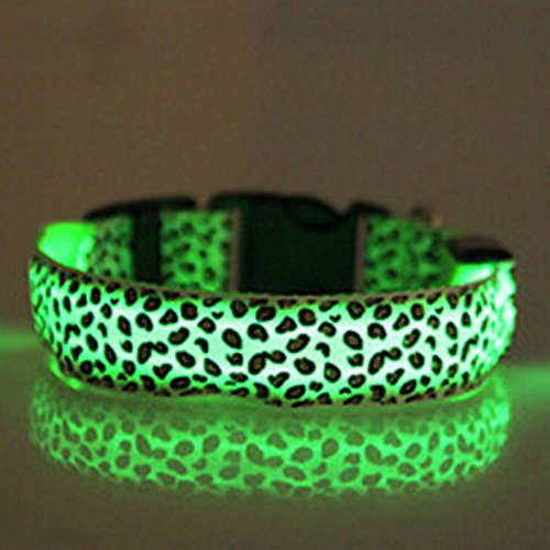 evtech-tm-leopard-securite-nuit-plomb-collier-chien-chat-collier-reglable-avec-flash-light-up-vert-m