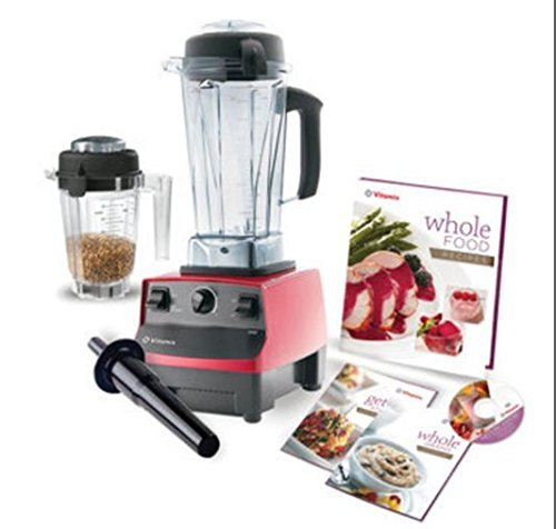 Vitamix 6300 Super Package with 64oz & 32oz Dry Containers, Featuring 3 Pre-Programmed Settings, Variable Speed Control, and Pulse Function. Includes Savor Recipes Book, DVD and Spatula. 7 Year Full Warranty. (RED) (Pulse Vitamix compare prices)