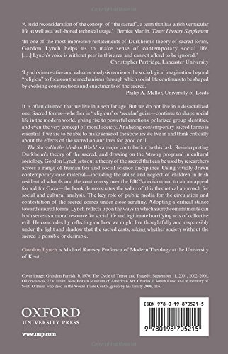 The Sacred in the Modern World: A Cultural Sociological Approach