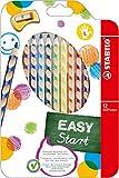 STABILO EASYcolors 12er Etui mit Spitzer links - ergonomische Buntstifte