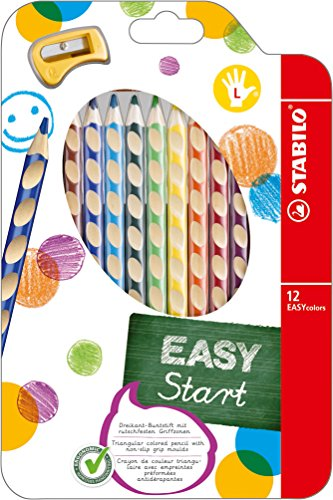 Stabilo 331/12 Easycolors Matite Colorate, Mancini, 4.2 mm, Confezione da 12